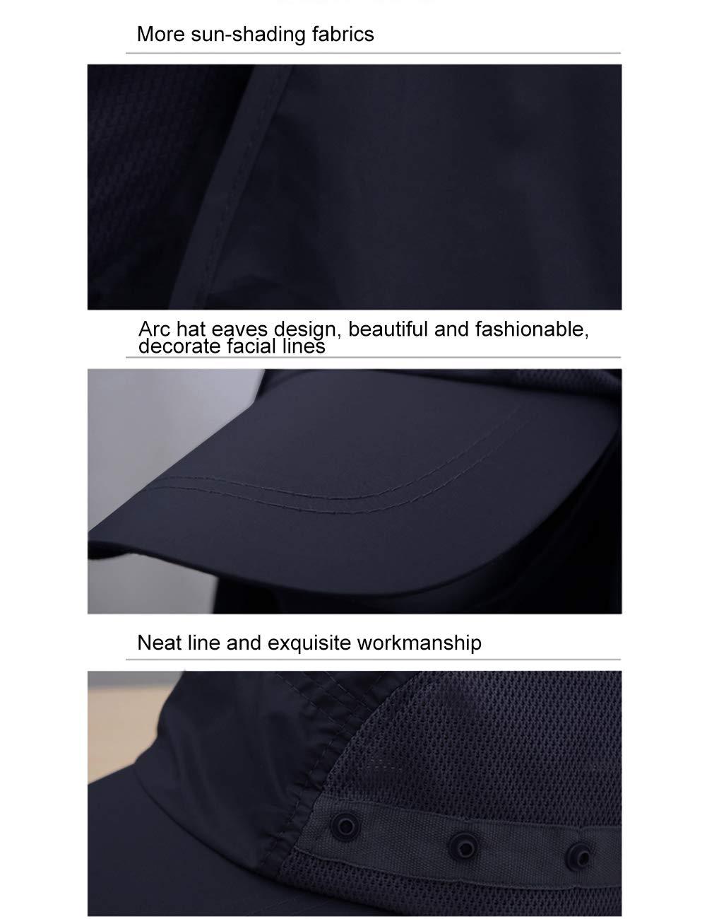 EZCAMP UV Schutz Sonnenhut Angelhut mit Nackenschutz Outdoor Camping Hut