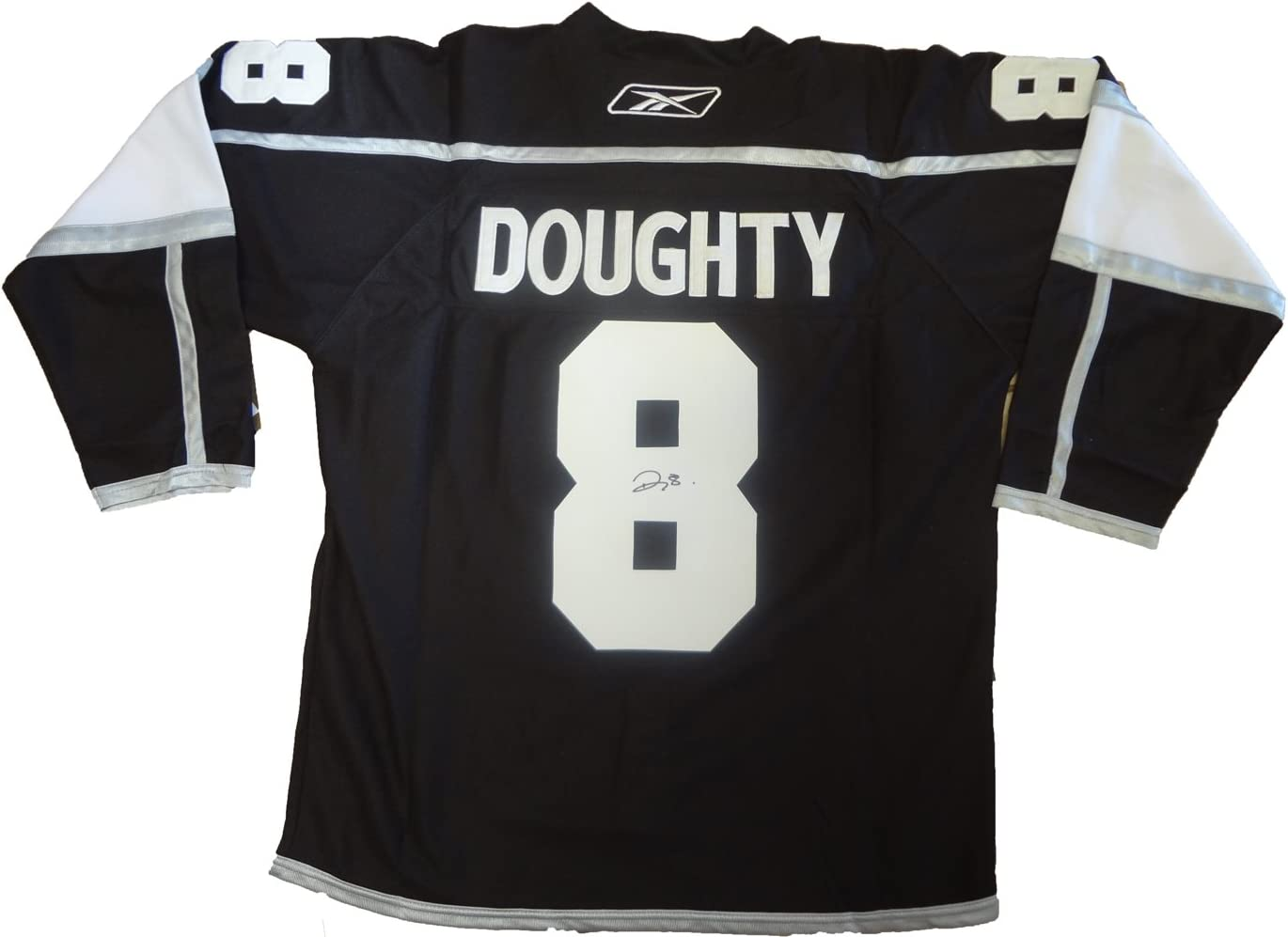 B0088IM658 Drew Doughty Autographed Los Angeles Kings Black Jersey W/PROOF, Picture of Drew Signing For Us, Los Angeles Kings, 2012 Stanley Cup, Team Canada, Gold Medal 61XnK-waxSL.SL1382_