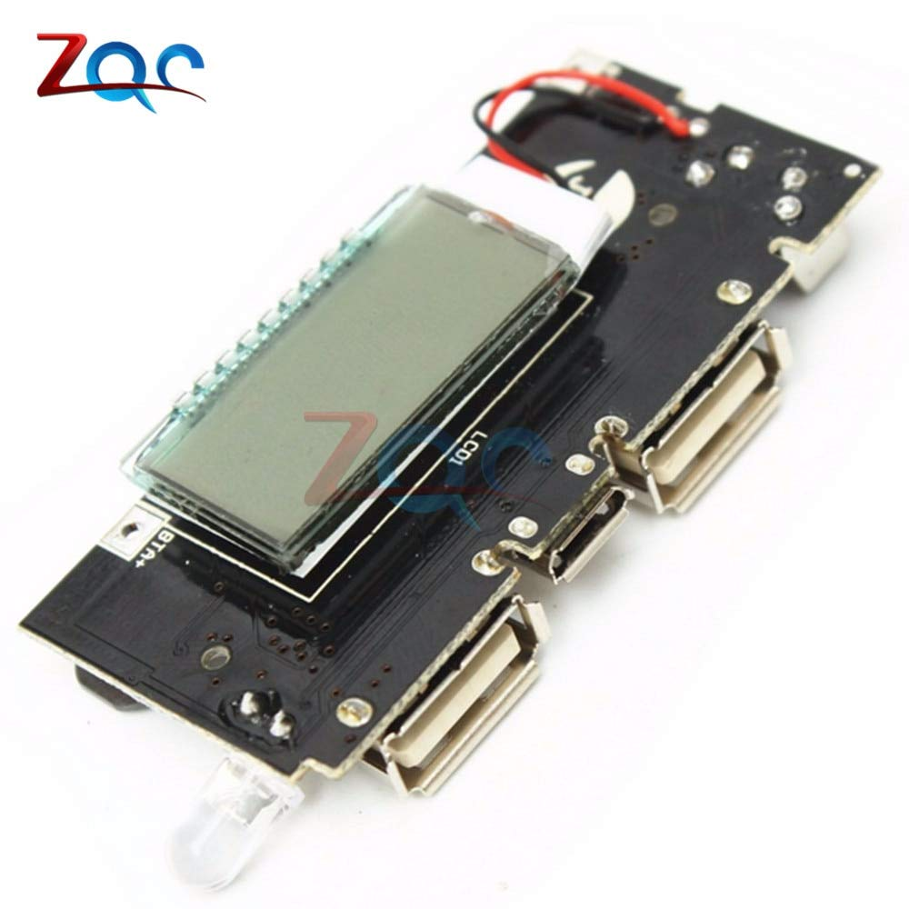 Dual USB 5V 1A 2.1A Mobile Power Bank 18650 Lithium Battery Charger Board Module Digital PCB by Reland Sung (Image #2)