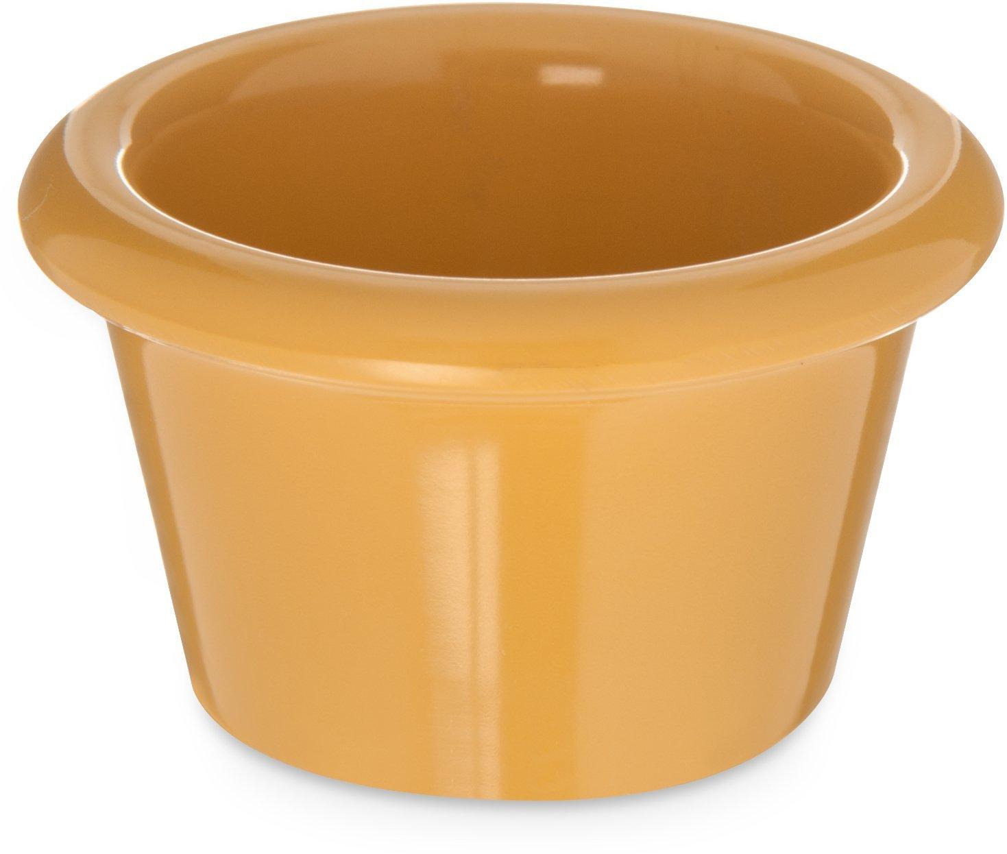 Carlisle S27522 Melamine Smooth Ramekin, 1.5 oz. Capacity, Honey Yellow (Case of 48) Carlisle FoodService Products