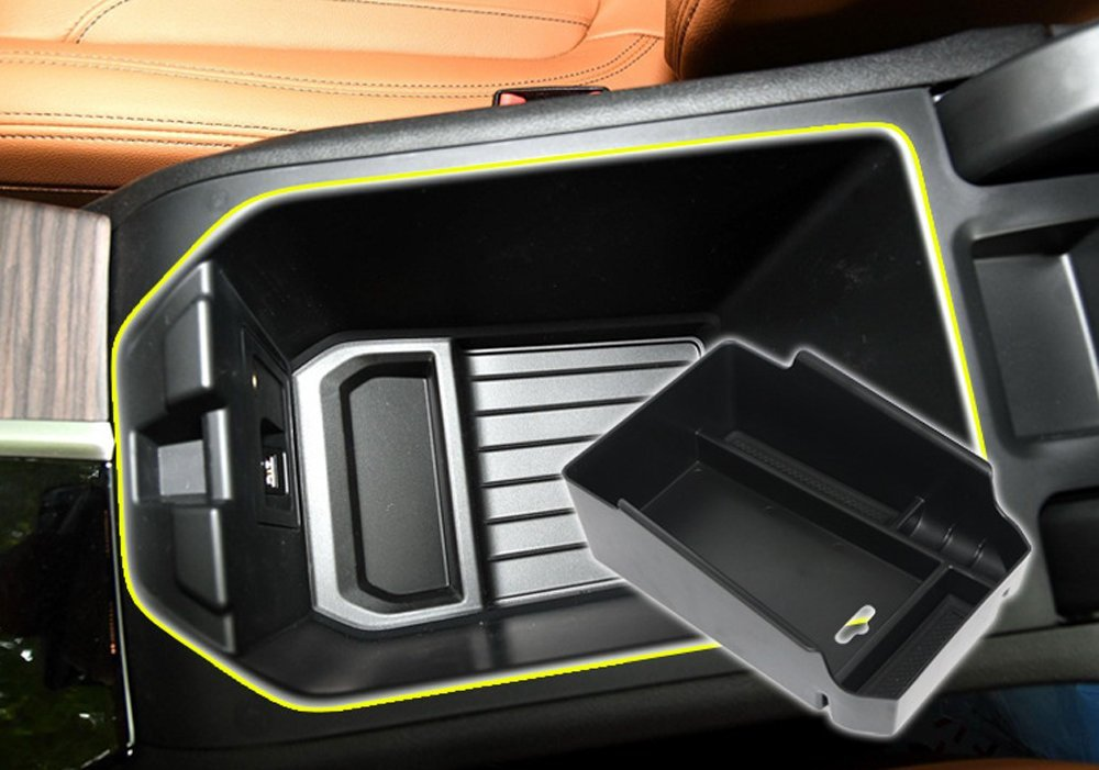 Salusy Center Console Armrest Storage Insert Organizer Tray Compatible with BMW X3//X4 SUV 2018 2019