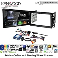 Volunteer Audio Kenwood Excelon DDX6904S Double Din Radio Install Kit with Satellite Bluetooth & HD Radio Fits 2000-2005 Saturn S/L Series