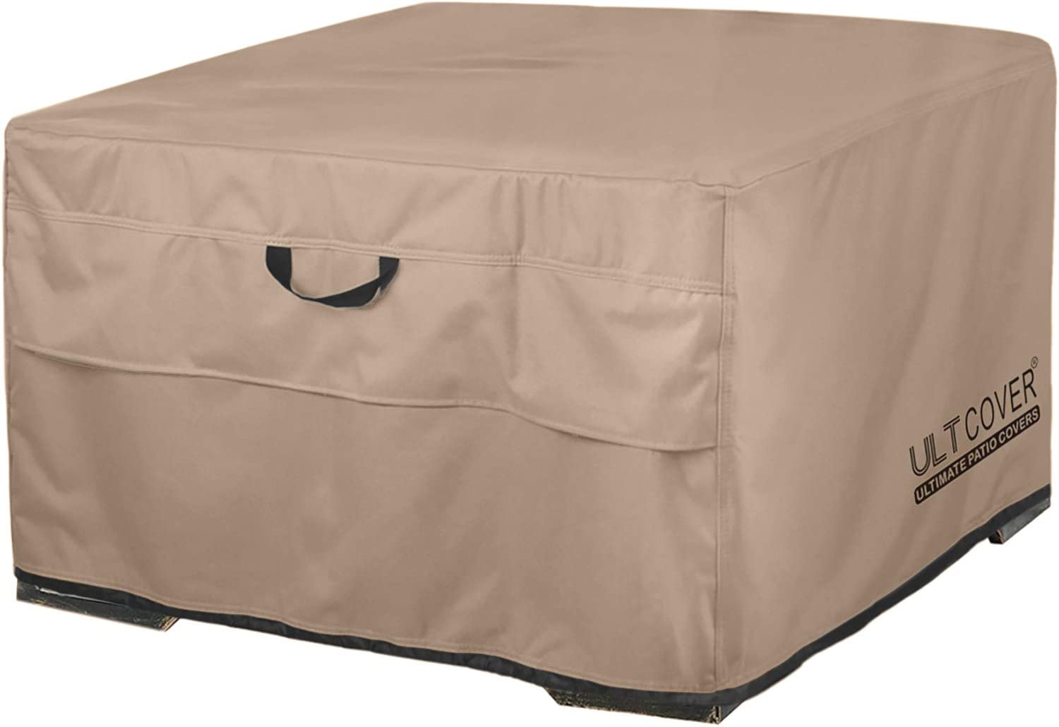 ULTCOVER Patio Fire Pit Table Cover Square 50 inch Outdoor Waterproof Fire Bowl Cover