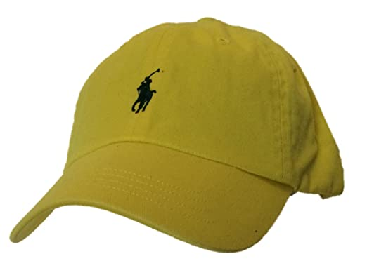 Polo Ralph Lauren Logo Hat Cap Yellow/Black Pony