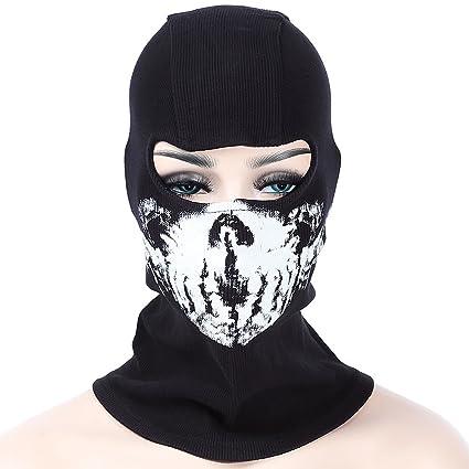 Isuper Máscara de Fantasma cráneo máscara de esquí al Aire Libre de esquí Capucha de Entrenamiento