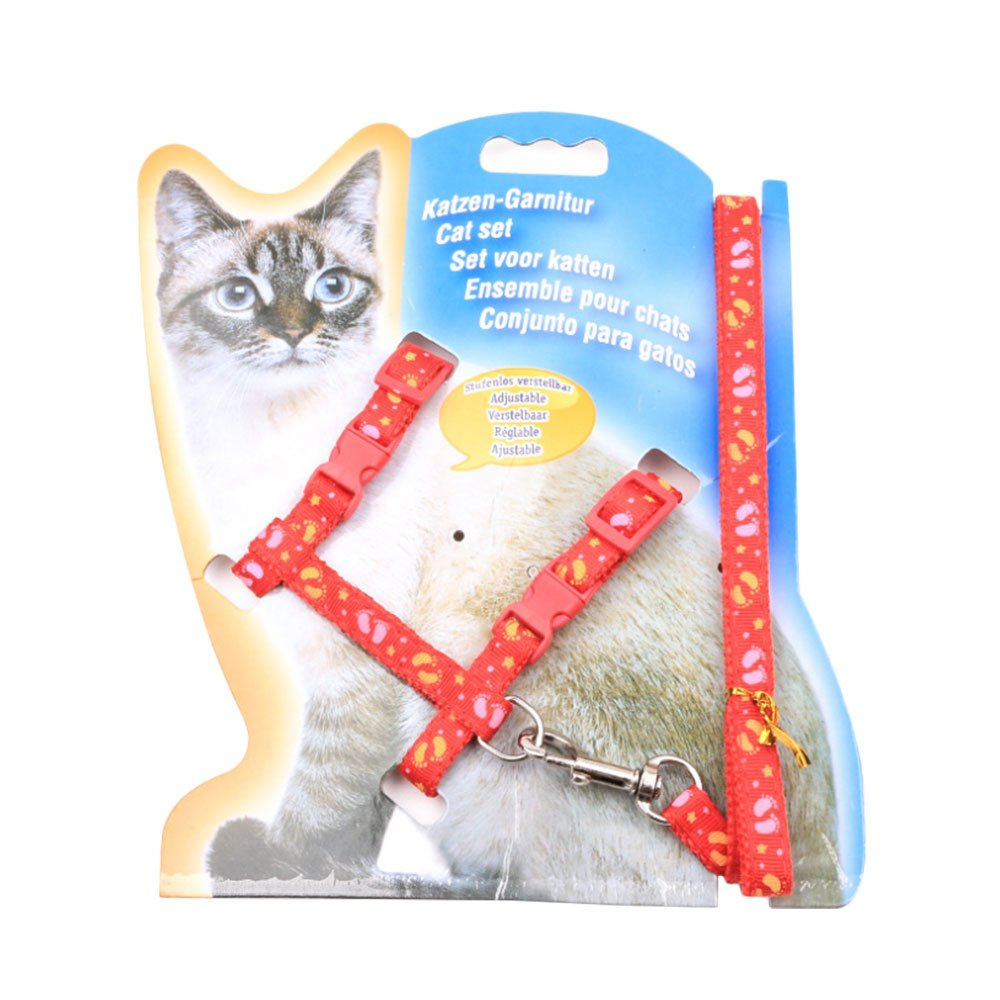 Amazon.com : Refaxi Red Pet I-type Chest Strap Safety Leash Traction Nylon Rope For Puppy Dogs Cats : Pet Supplies