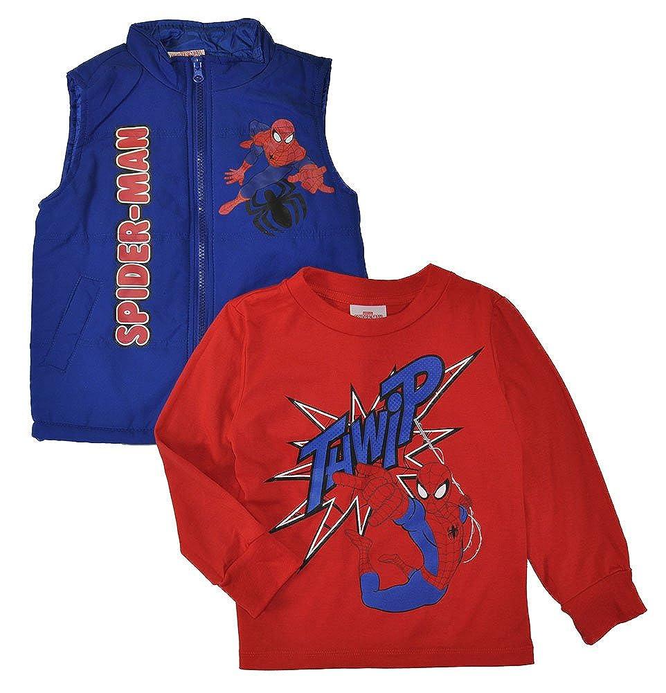 Batman vs Superman. DC Comics Little Boys Long Sleeve Top & Vest Set