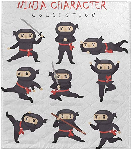 Amazon.com: InterestPrint Ninja Warrior in Different Poses ...