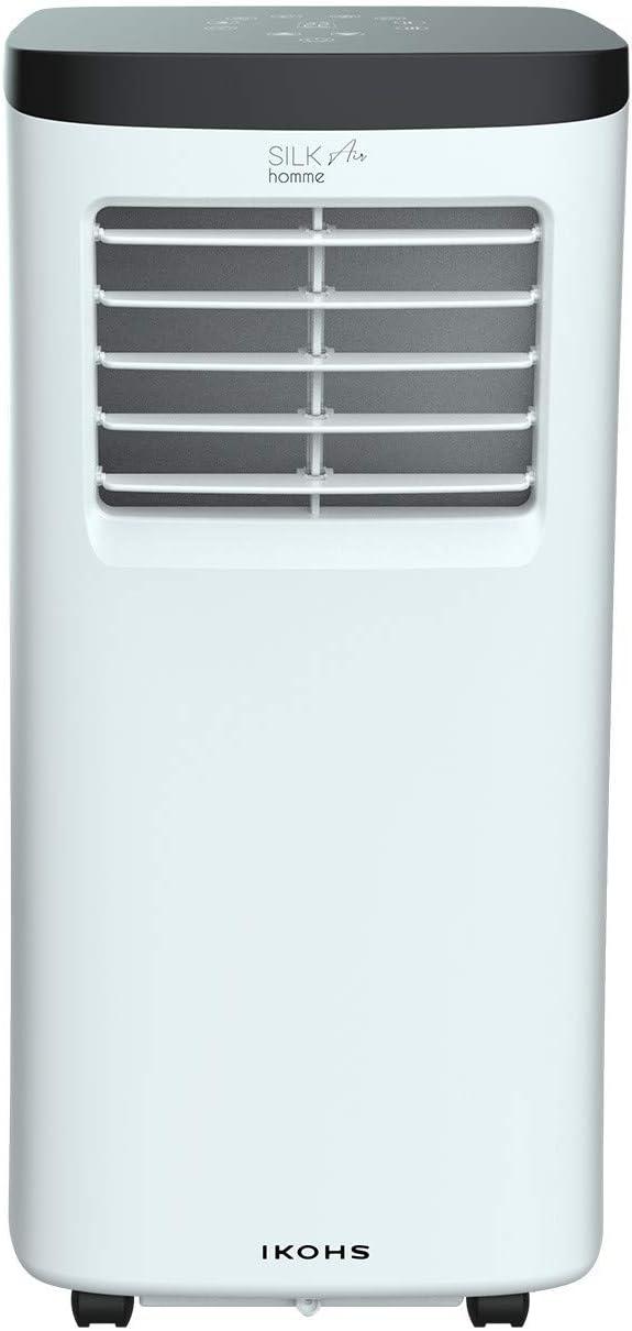 1800 Frigor/ías Ventilador 7000BTU Incluye Mando Muy Silencioso y Deshumidificador hasta 17 L//d/ía Aire Acondicionado Port/átil IKOHS SILKAIR Home con 3 Modos de Aire Acondicionado