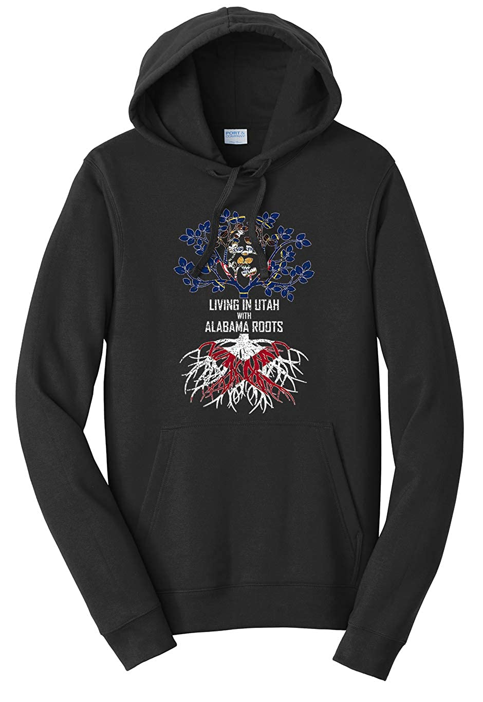 Tenacitee Unisex Living in Utah Alabama Roots Sweatshirt