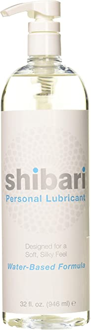 Shibari Water Based Personal Lubricant, 32oz with Pump