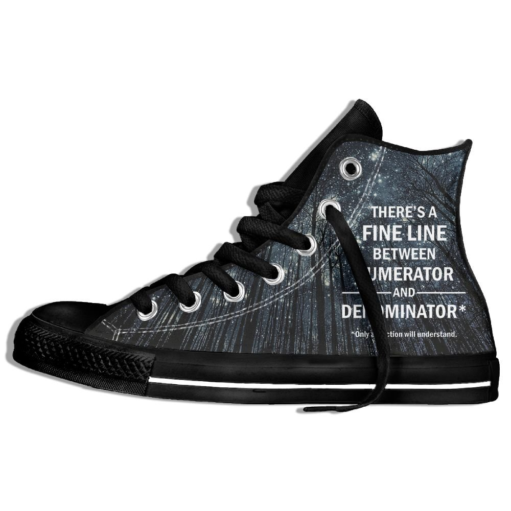 Fine Line - Only Fraction Understand High Top Classic Casual Canvas Fashion Shoes Sneakers For Women & Men