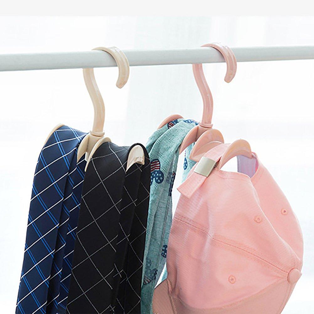 pu ran Praktische Closet Organizer Rod Kleiderb/ügel Handtasche H/ängende Aufbewahrung Halter Haken beige
