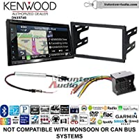 Volunteer Audio Kenwood DNX574S Double Din Radio Install Kit with GPS Navigation Apple CarPlay Android Auto Fits 2003-2005 Volkswagen Golf, Jetta, Passat
