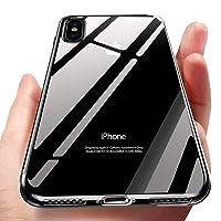 unibelin iPhone X Handyhülle, Crystal Hülle iPhone X Schutzhülle Ultra Dünn TPU Bumper Case Soft Anti-Scratch Stoßfest Silikon Hülle für iPhone X Case Cover, Transparent