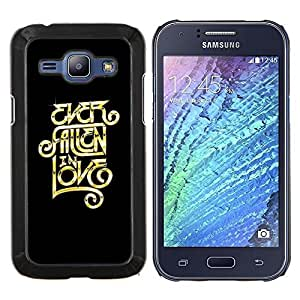 TECHCASE---Cubierta de la caja de protección para la piel dura ** Samsung Galaxy J1 J100 ** --Alguna vez enamorado Mensaje