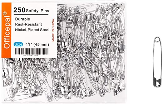 45mm Premium Quality Strong  Steel Safety Pins Industry Standard