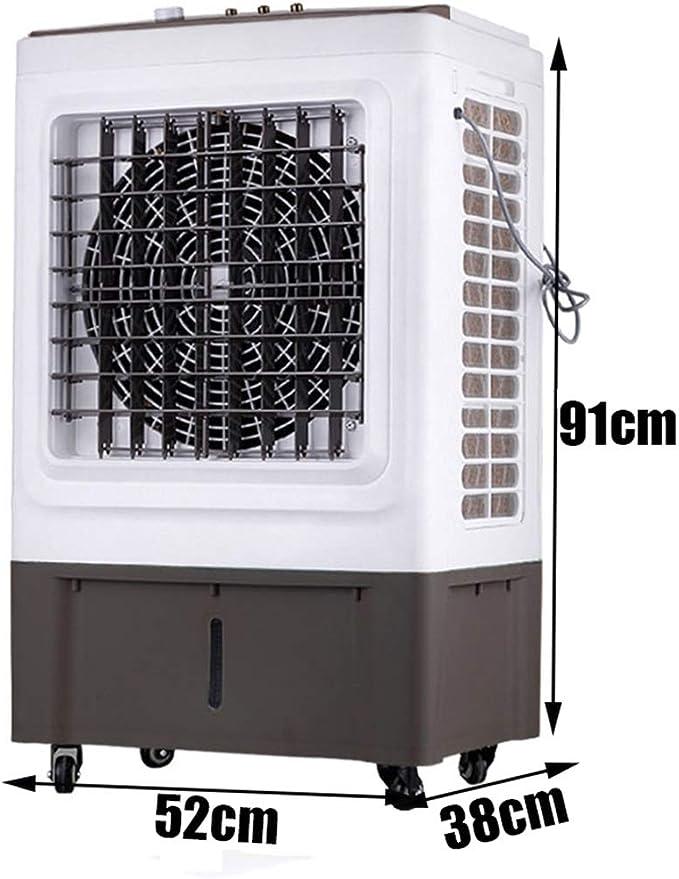 Refrigerador de Aire evaporativo portátil 3 en 1 con Ventilador, humidificador Industrial y Funciones de purificador de Aire, 35 litros, L52xW38xH91cm: Amazon.es: Hogar