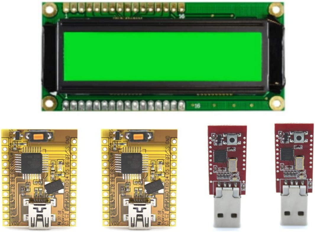 Kit Aprende Electronica: 1 LCD 16x2 + 2 Placas golduino + 2 Placas bitorino compatibles Arduino y teensy AT90USB162