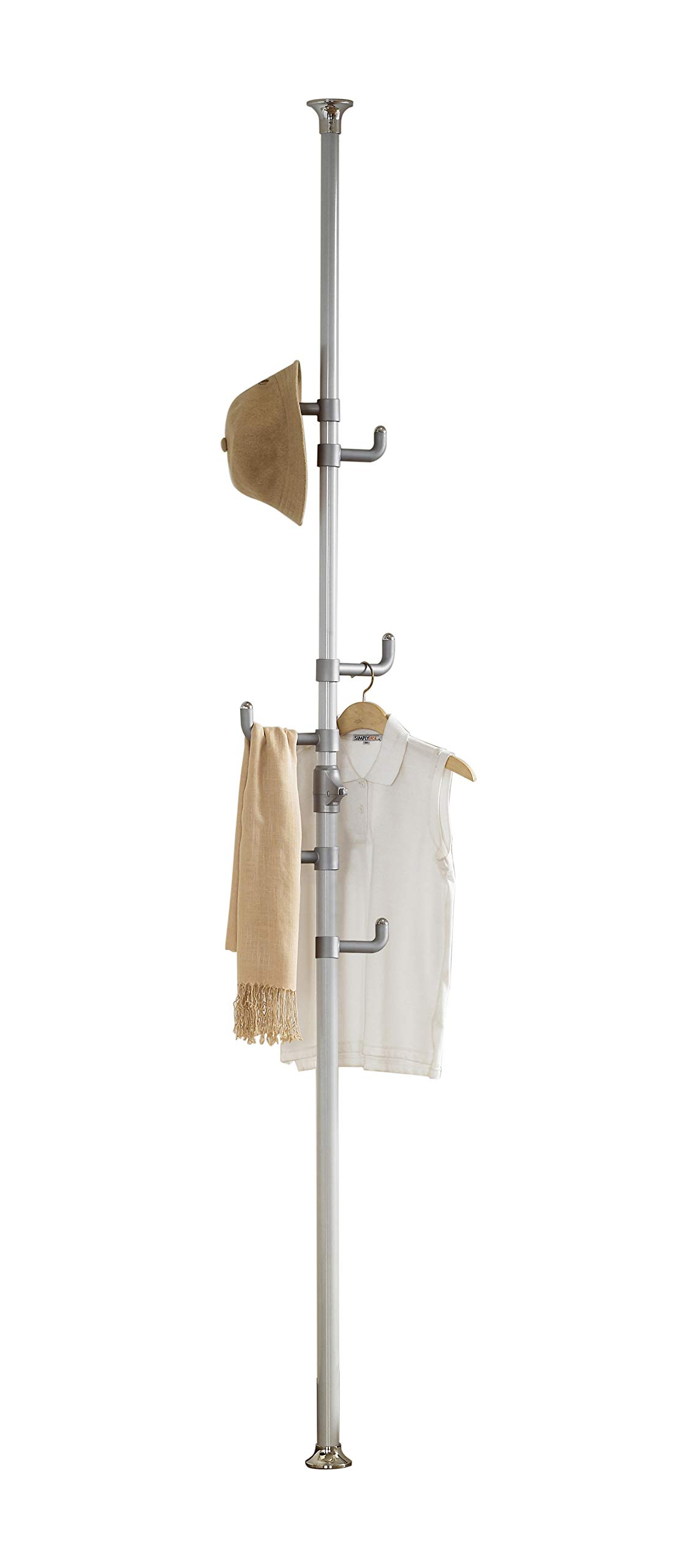 PRINCE HANGER, One-touch Coat Rack, Silver, Steel, Free Standing, PHUS-0012