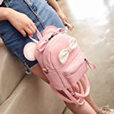 leomoste Cute Bowknot Leather Daypack Kids Girls