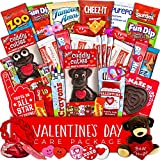 Valentine's Day Care Package (40ct) - Snacks, Chocolates, Candy Gift Box - Assortment Variety Bundle Present for Boy, Girl, Friend, Student, College, Child, Husband, Wife, Boyfriend, Girlfriend, Love