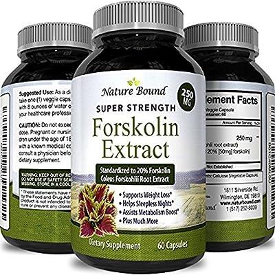 Best Forskolin Supplement for Weight Loss - Natural Forskolin Diet Pills Fat Burner for Men & Women Boosts Metabolism Appetite Suppressant Pure Standardized 20% Forskolin Capsules - Nature Bound