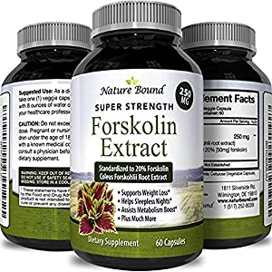 Opti Natural Pure Forskolin Weight Loss Supplement and Appetite Suppressant 60 Capsules