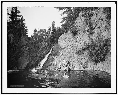 Photo: Swimming hole,children playing,water,cliff,Lester - Duluth Mn Shopping