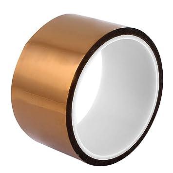 WINGONEER 50mm x 33m Polyimide Calor Alta temperatura resistente adhesivo cinta de oro para la plataforma de la impresora 3D / tarea eléctrica / soldadura ...