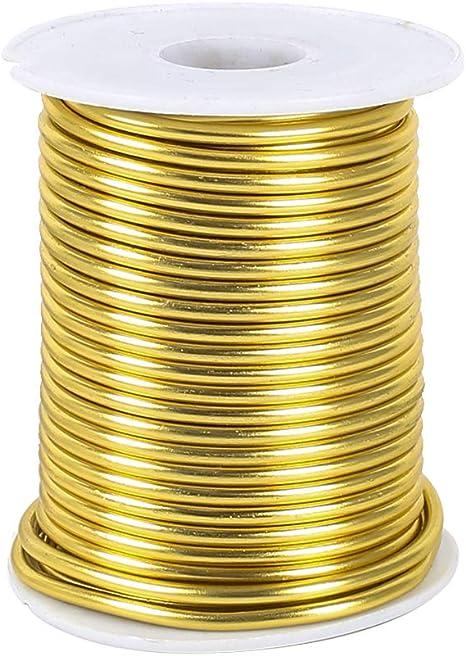 Gold Hell 60m Aluminiumdraht Aludraht Basteldraht Schmuckdraht eloxiert 2mm