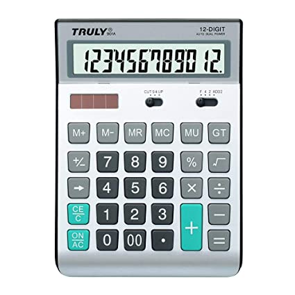 Calculadora de mesa botón de plástico energía solar doble gran ...