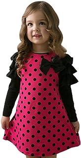 YanHoo Bambino Piccolo Vestito, Bambini Vestito Estivo Outfits Abiti Bambino Ragazze Punto Arco Principessa