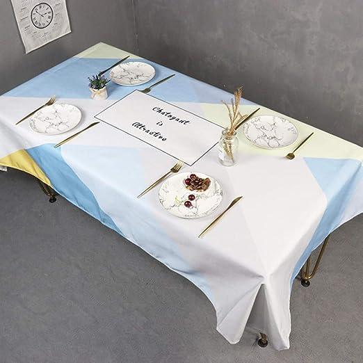 Manteles, Estilo Minimalista Europea Mantel Blanco Color Patrón Geométrico Impresa La Textura Del Algodón De Poliéster Parte Mantel Exterior Cubierta, Limpiar La Mesa Buffet Gran Mantel Decoraci: Amazon.es: Amazon.es