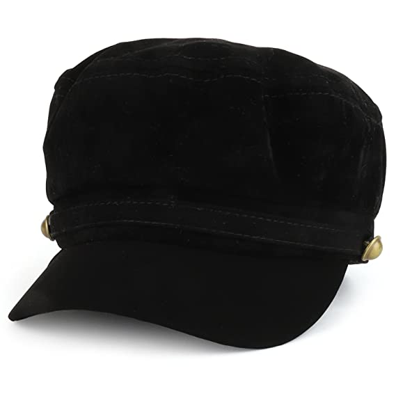 68f041c49de8d Trendy Apparel Shop Faux Suede Engineer Railroad Conductor Cap - Black