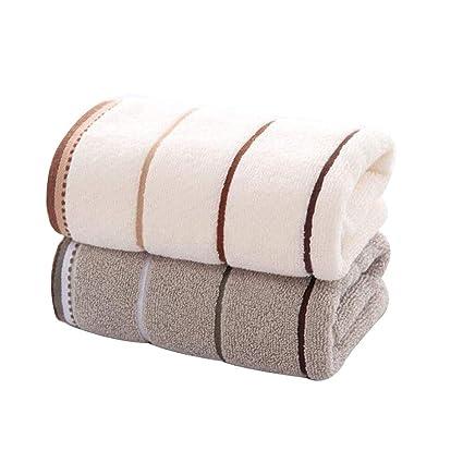 WWJ-towel 2 Toallas Toallas De Cara De AbsorcióN De Agua CóModas De AlgodóN Lleno