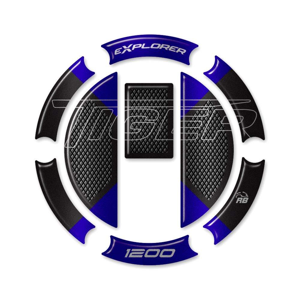 Adh/ésif R/ésine Protection Bouchon Du R/éservoir pour Triumph Tiger Explorer 1200-2011-2015 M/étal Bleu