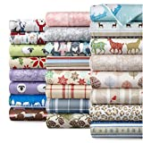 Shavel Home Products Micro Flannel Sheet Set, Polar Bears, Cal King