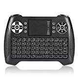 pc remote keyboard - Backlit Wireless Touchpad Mini Keyboard Gaming Controller 2.4GHz Wireless Mini Keyboard for Smart TV, PC, PAD, Google Android TV Box, HTPC, IPTV, XBOX, Support Windows 10 (T16)