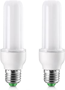 Elrigs LED Light Bulb Stick, 9W (75W Equivalent), Daylight (6000K), E26 Base, Pack of 2, 900lm Replacement for 18W CFL