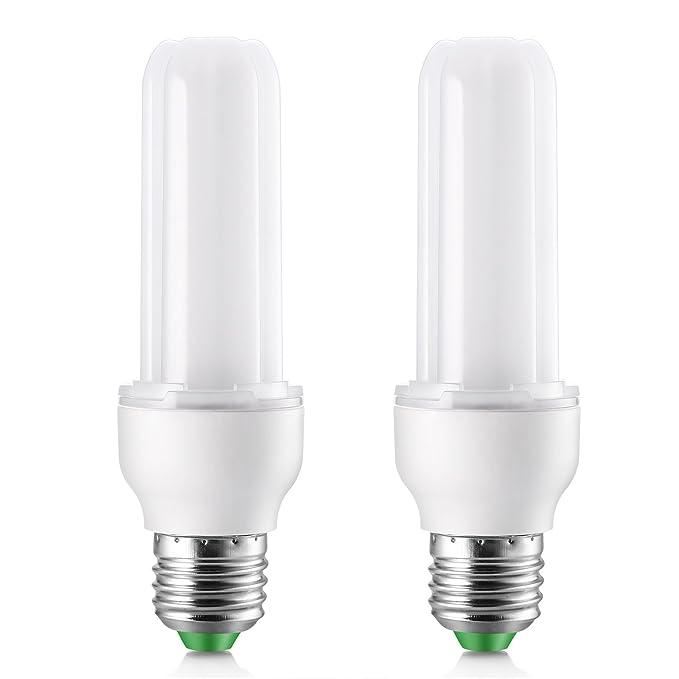 Elrigs Bombilla LED 9 W (equivalente a 75 W), luz blanca fría (6000K), casquillo E27, Pack de 2 bombillas: Amazon.es: Iluminación
