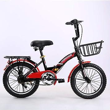 Bxiao Bicicleta de montaña Plegable para niños, Cambio de 16/18/20 ...