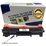 HI-VISION HI-YIELDS Compatible [NO CHIP] TN760 Toner Cartridge HighYield 3000pages Printer use with HL-L2350DW/L2390DW/L2395DW/L2370DW DCP-L2550DW MFC-L2710DW/L2750DW HL-L2370DWXL MFC-L2750DWXL(1Pk)