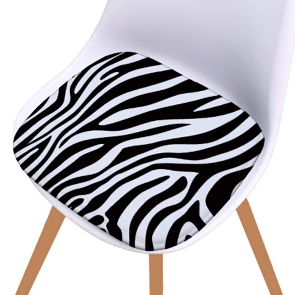 Set von 4 Premium-Kissen Stuhl Sitzkissen f/ür B/ürostuhl,A 100/% Schwamm Schwarzweiss-Zebra-Stuhl-Auflage PYapron Schaumstoff-Sitzkissen Nicht Beleg dinging Stuhl-Auflage