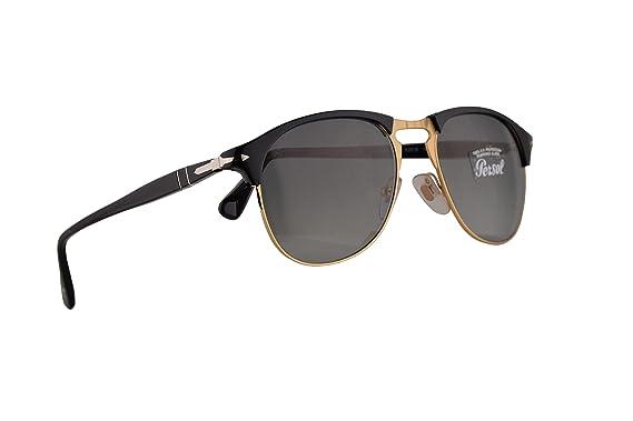 7834d04f6b Amazon.com  Persol Sunglasses PO8649S Black w Grey Gradient Lens ...