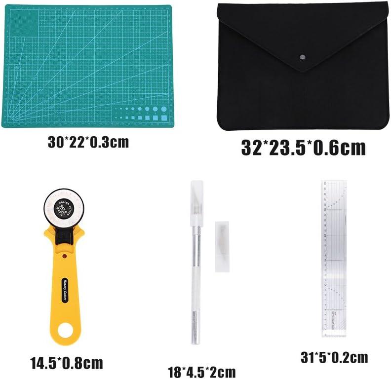 5/x//Set N/ähen handgefertigt Tool Kit Papier Stoff Leder Schneiden Tools Set