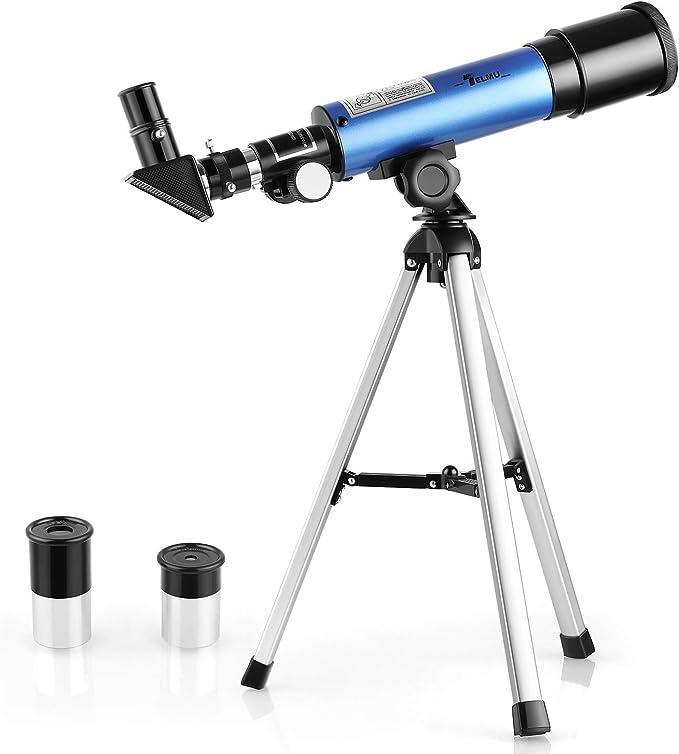 TELMU - Telescopio Astronomico 50mm para Niños F36050M Oculares Huygoens de H6mm y H20mm: Amazon.es: Electrónica