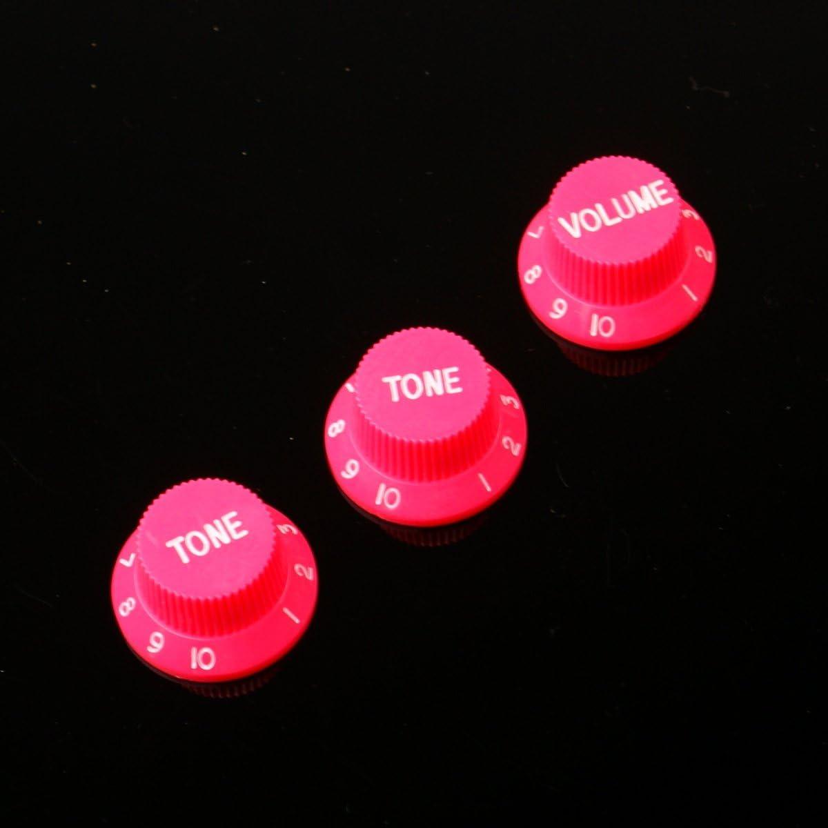 Strat style Guitar Control knobs Set 2 Tones, 1 Volume ,Orange