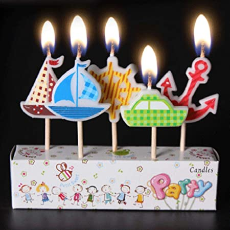 WangWtry Cumpleaños de Dibujos Animados Velas Niños Niño ...