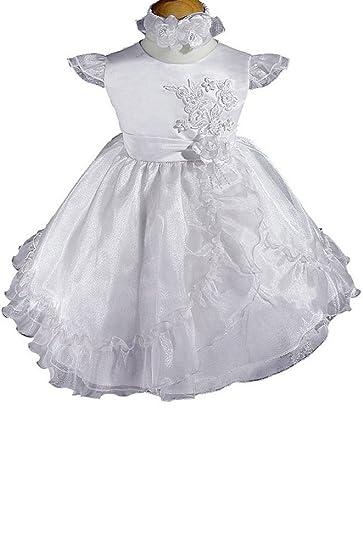 Amazon.com: AMJ vestidos Inc bebé niña flor para bautizo ...